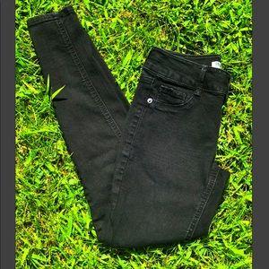 Mudd Black Skinny Jeans Mid Rise Jeggings Girls 12